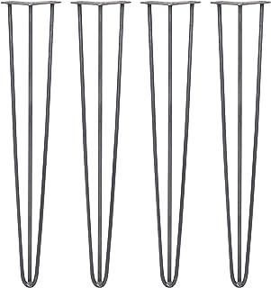 SKISKI LEGS - 4 Patas Horquilla para Mesa 71cm 3 Dientes de Acero Color Natural Espesor 10mm