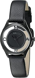 Marc by Marc Jacobs MBM1384 Round Embossed Leather Analog Watch for Women - Black