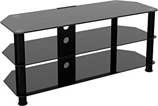 """AVF SDC1140CMBB-A Media Component TV Stand with Cable Management for up to 55"""" TVs, Black"""