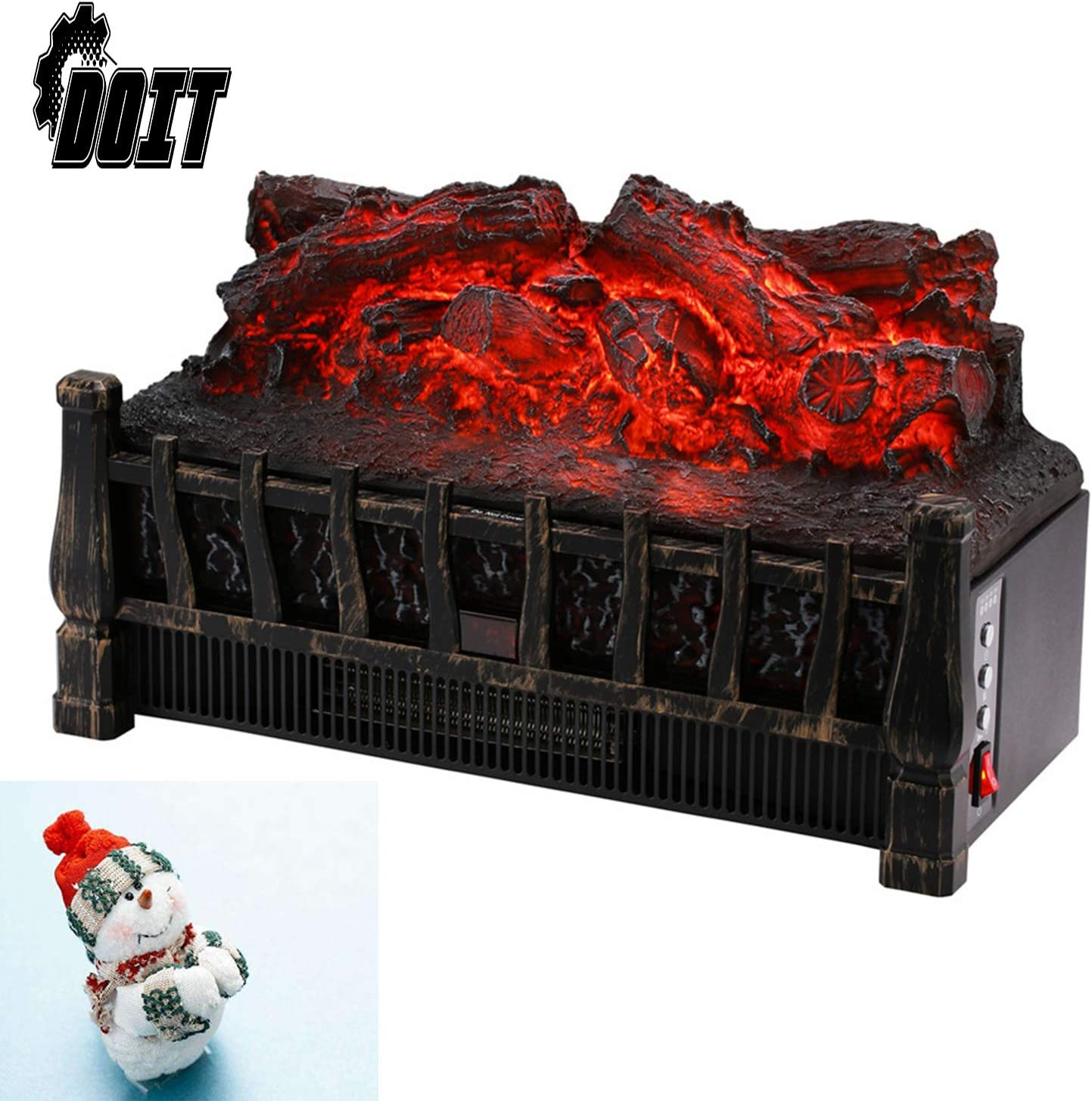 DOIT Sale special price Electric Log Set Heater Ember Bed,Fireplac with NEW before selling ☆ Realistic