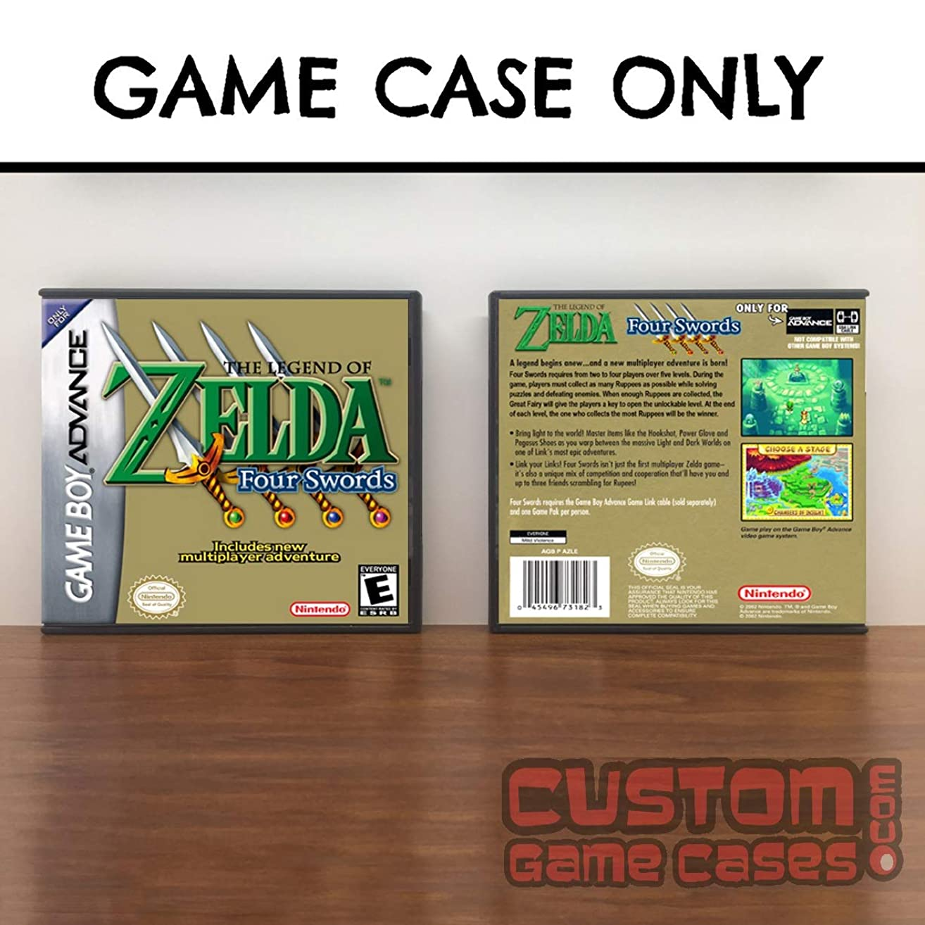 Gameboy Advance Legend of Zelda ,The: A Link to the Past & Four Swords (Green) - Case