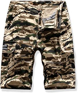 MogogoMen Tall Casual Camo Multi Pockets Relaxed-Fit Twill Cargo Shorts