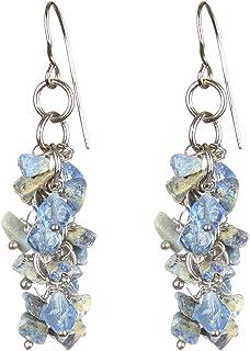 DCA Glass Base Metal Earrings for Women