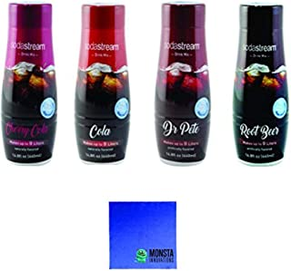 SodaStream 14.8 fl Ounce - Variety Pack - Cherry Cola, Root Beer, Cola, Dr Pete