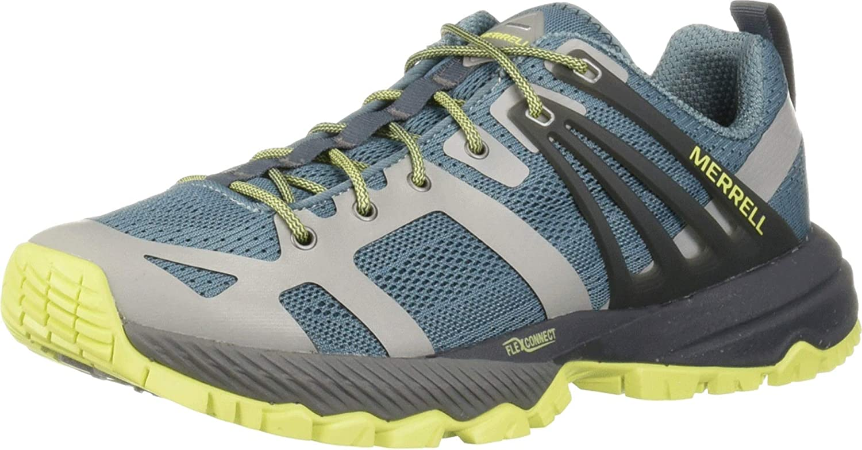 Merrell Women's J52690 MQM Ace Hiking Shoe, Smoke/Lime - 10.5 M