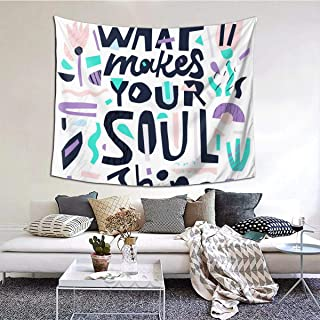 Emonye Soul Shine Quote Wall Hanging Tapestry 3D Printing Outer Space Tapestry Tablecloth with Art Nature Home Decorations for Living Room Bedroom Dorm Decor(60 * 51inch)