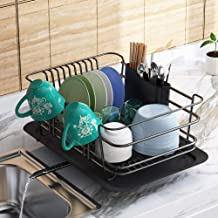 Dish Drying Rack, 1Easylife Dish Drainer for Kitchen Rustproof Dish Rack and Drainboard Set with Removable Utensil Holder ...