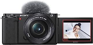 Sony Alpha ZV-E10L Interchangeable Lens Vlog Digital Camera with 16-50 mm Lens.