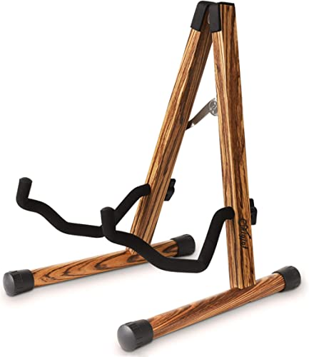 Guitar Stand, Wooden Guitar Stand Acoustic with Padded Foam, Classical Electric Guitar Stand, Compact A-Frame Folding...