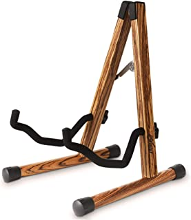 Wood Guitar Stand, Compact Acoustic Guitar Stand with...