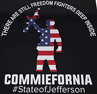 AWESOMETIVITY State of Jefferson Decal - Vinyl Window Sticker, Freedom Fighters in Commiefornia, Make California Free Agai...