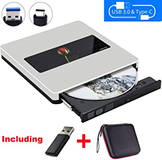 NOLYTH External CD DVD Drive USB3.0 CD DVD Drive CD DVD Player Burner Optical Drive for Laptop/MacBook Air/Pro/Windows Made with Alumium Alloy Supported DVD±RW/CD±RW
