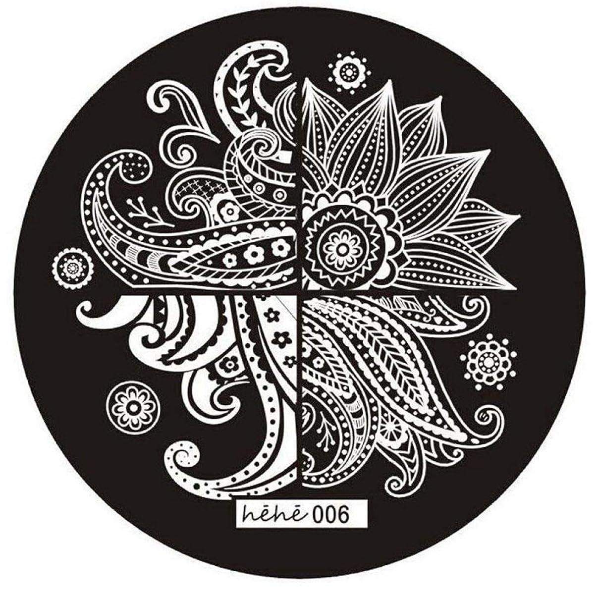 ケーキファシズムシャイACAMPTAR 女の子のネイルアートパターンのイメージスタンプ プレートテンプレートマニキュア006