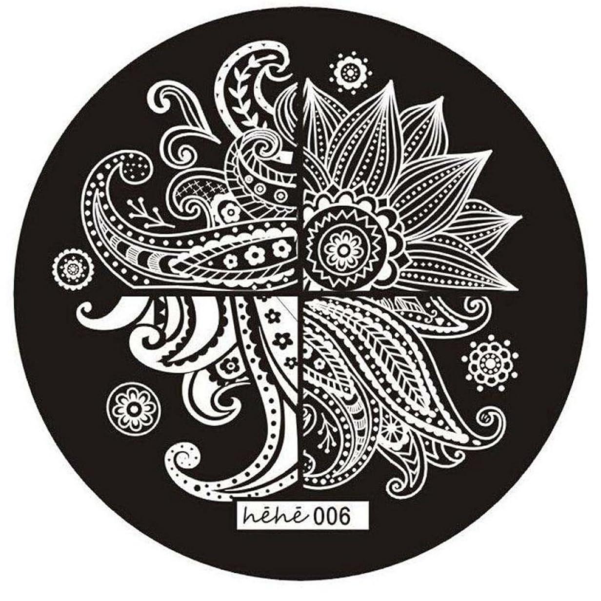 野な遅らせるドリルSODIAL 女の子のネイルアートパターンのイメージスタンプ プレートテンプレートマニキュア006