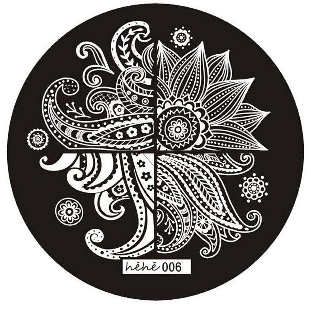 アンカー微生物マットSODIAL 女の子のネイルアートパターンのイメージスタンプ プレートテンプレートマニキュア006