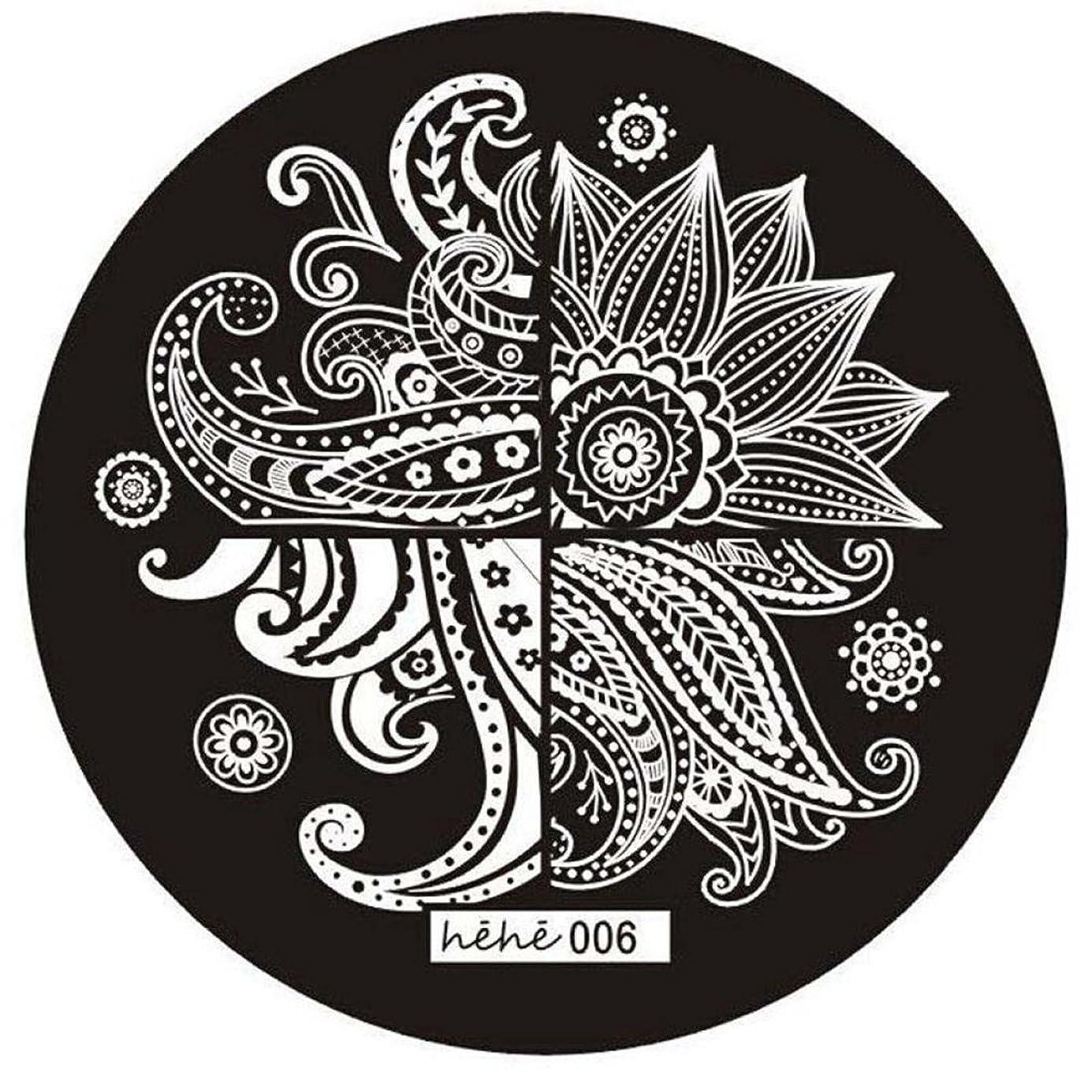 自我十分に偏差ACAMPTAR 女の子のネイルアートパターンのイメージスタンプ プレートテンプレートマニキュア006
