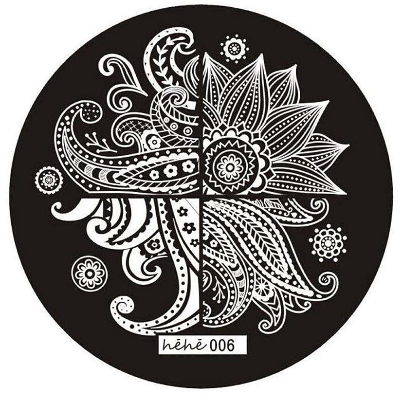 グリップ冷えるインゲンSODIAL 女の子のネイルアートパターンのイメージスタンプ プレートテンプレートマニキュア006
