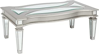 Ashley Furniture Signature Design - Tessani Contemporary Rectangular Cocktail Table - Silver