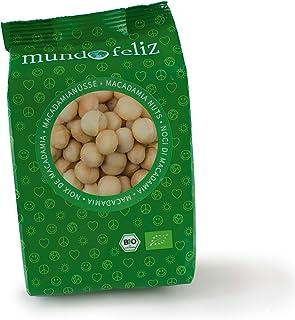 Mundo Feliz - Nueces de macadamia ecológicas crudas, 5 bolsas de 100g