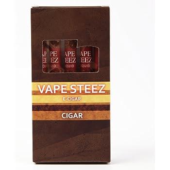 VAPE STEEZ E CIGAR 使い捨て 電子葉巻 吸引回数500回 5本セット (コーヒー)