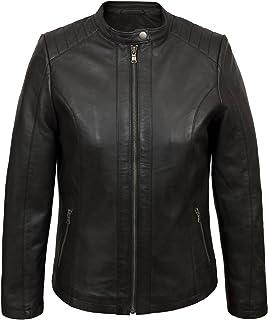 HIDEPARK Trudy: Women's Black Leather Biker Jacket