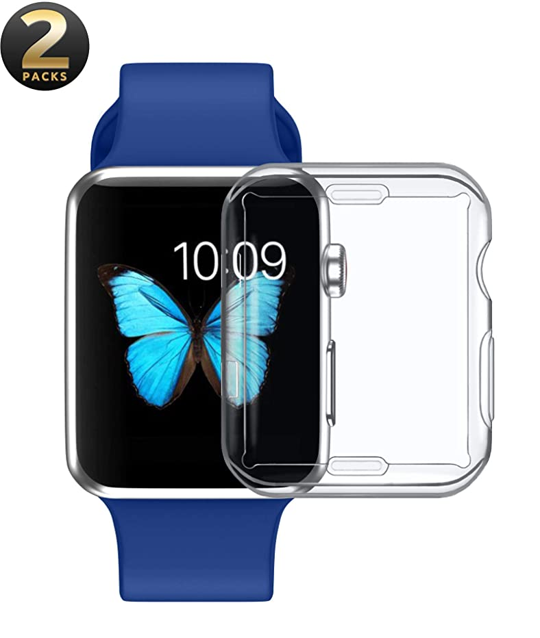 Apple Watch 44mm Screen Protector by Wonderfulhz,[2-Pack] All-Around Protective TPU HD Clear Ultra-Thin,2018 New Iwatch Series 4 44mm Overall Protective Case