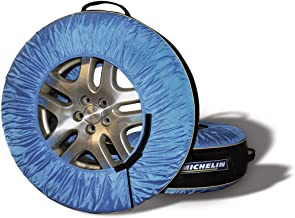 MICHELIN K00080 Black/Blue 80 Tire Covers & Tire Bags-Pack of 4, 4 Pack