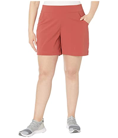 Columbia Plus Size Anytime Casualtm Shorts (Dusty Crimson) Women