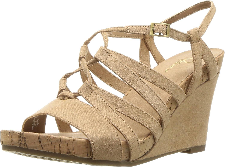 Aerosoles Womens Poppy Plush Wedge Sandal
