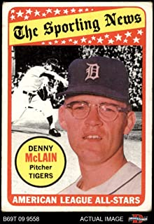 1969 Topps # 433 All-Star Denny McLain Detroit Tigers (Baseball Card) Dean's Cards 2.5 - GD+ Tigers