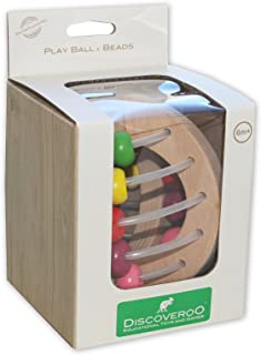Discoveroo Wooden Clutching Toy Play Ball - Beads