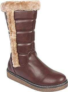 Flat n Heels Womens Brown Boots FnH 1710-A2-BRW