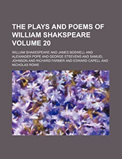 The Plays and Poems of William Shakspeare Volume 20