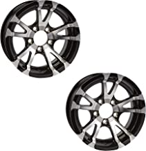 2-Pack Aluminum Trailer Rims Wheels 5 Lug 15 in. Avalanche V-Spoke/Black