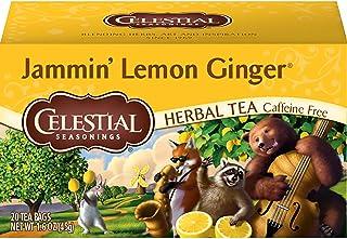 Celestial Seasonings Herbal Tea, Jammin' Lemon Ginger, 20 Count Box
