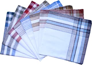 Assorted Mens Classic Striped Border Cotton Handkerchiefs