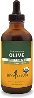 Herb Pharm Certified Organic Olive Leaf Liquid Extract for Immune System Support, 4 Fl Oz