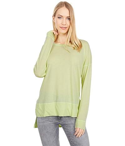 Mod-o-doc Burnout Wash Jersey Long Sleeve Drop Shoulder Tee (Lime Light) Women