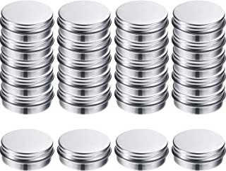 30 Pack 1/2 oz Aluminum Tin Cans Screw Top Empty Container Cans with Screw Lid