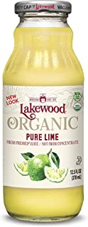 Lakewood Organic PURE Lime Juice, 12.5-Ounce Bottles (Pack of 12)