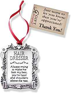 Cathedral Art CO766 Hair Dresser Occupation Ornament, 2-1/4-Inch