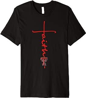 Texas Tech Red Raiders Faith In Cross Shape T-Shirt