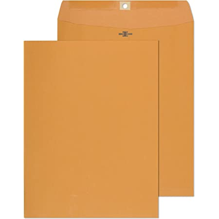 Clasp Envelopes – 10x13 Inch Brown Kraft Catalog Envelopes - 30 Pack - with Clasp Closure & Gummed Seal – 28lb Heavyweight Paper Envelopes for Home, Office, Business, Legal or School.
