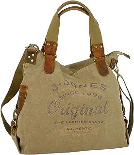 J JONES JENNIFER JONES Canvas Damen Handtasche Große Schultertasche Umhängetasche Shopper Crossbody Casual Multifunktional...