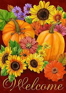 Briarwood Lane Fall Glory Floral House Flag Autumn Pumpkins Sunflowers 28