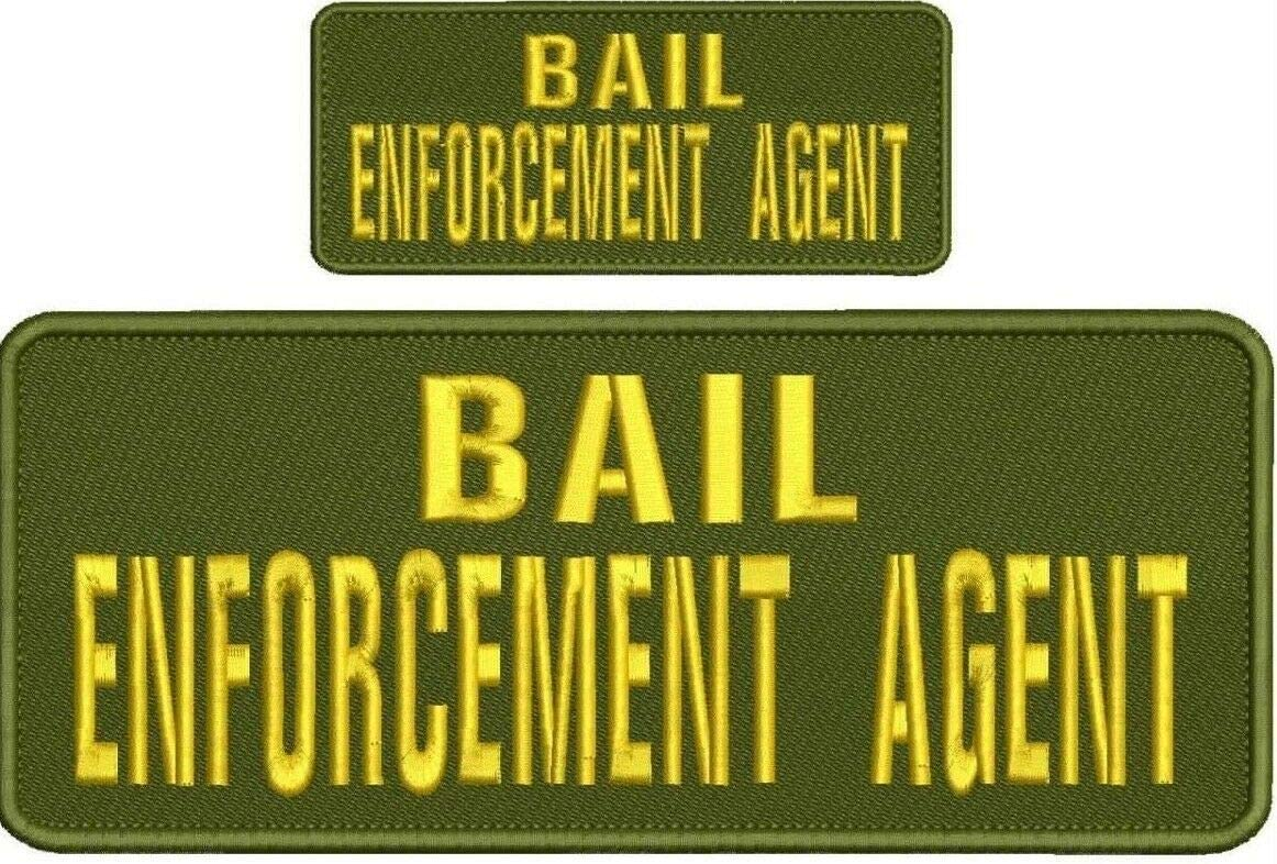 Bail Enforcement Agent Embroidery Patches unisex 4x10 trust on B and Hook 2x5