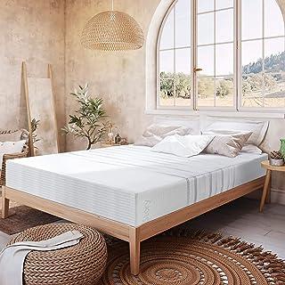 BedStory Matelas 140x190 cm Mémoire de Forme, Matelas 140x190 avec Latex Couche Améliore Le Sommeil, Mi-Moelleux Respirant...