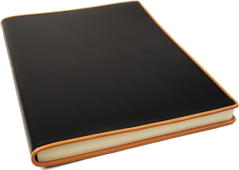 LEATHERKIND Cortona Leder Notizbuch Schwarz, A4 Blanko Seiten Seiten Seiten - Handgefertigt in Italien B0054LCQFC  | Sonderangebot  5e8997