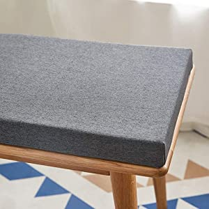 Indoor/Outdoor Loveseat Cushion,Patio Furniture Swing Pad Non-Slip Porch Fresco Bench Pad,Rectangle Long Chair Pad Lightweight Comfy Loveseat Cushion for Garden Dining Sofa