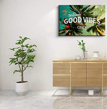 Modern Inspirational Office Quotes Art Welcome Good Vibes Only Motivational Canvas Wall Art Teamwork Cooperation Painting Rea